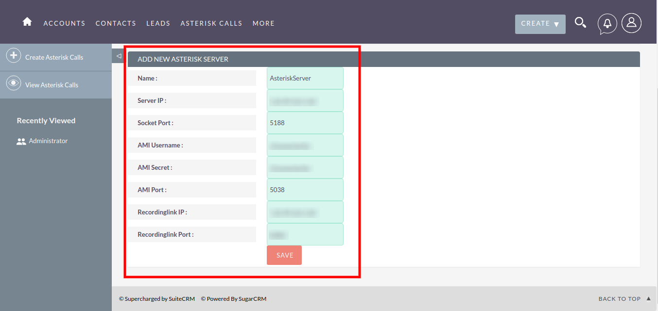 Admin Guide | Asterisk Integration With SuiteCRM