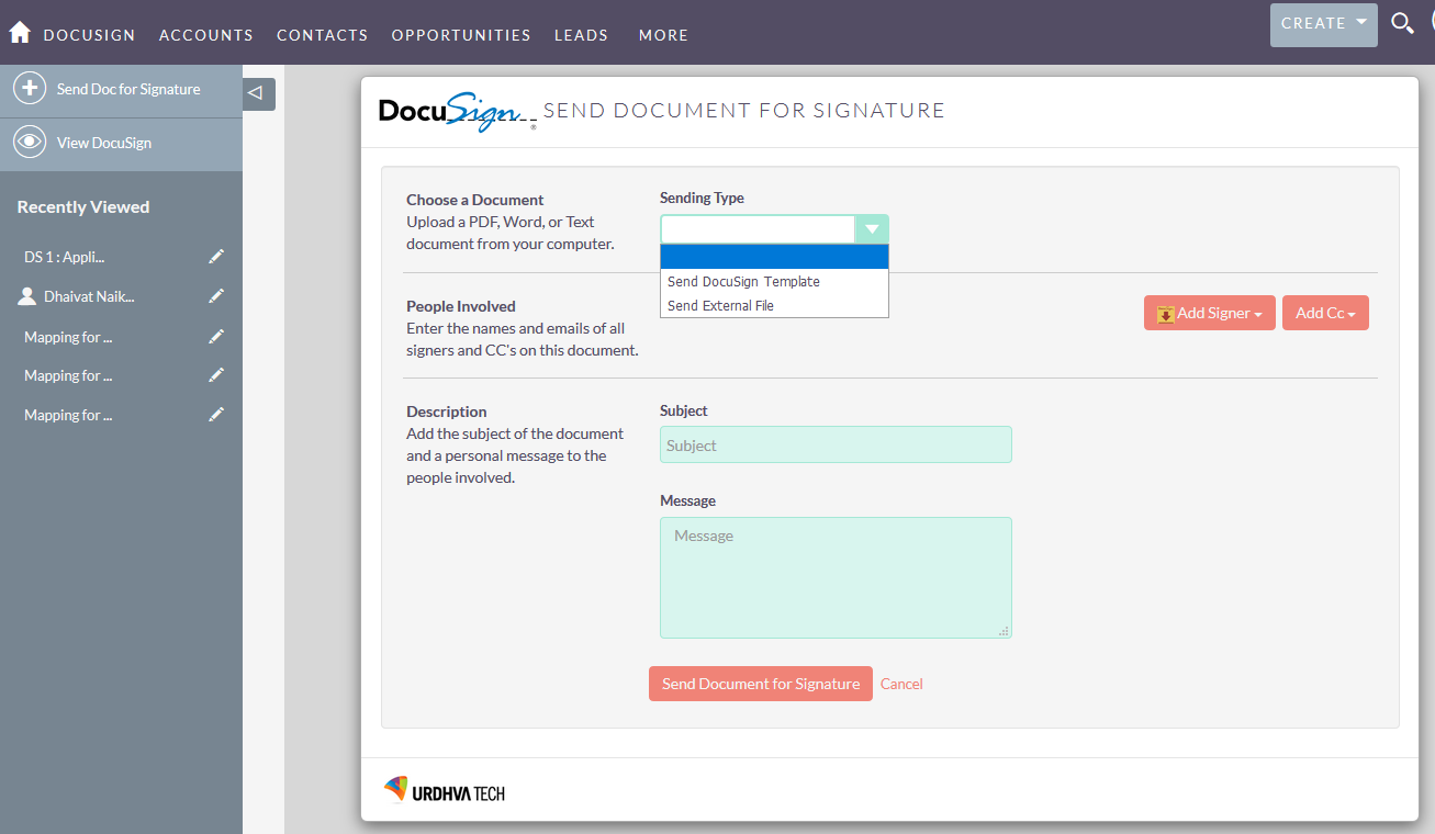 DocuSign for SuiteCRM