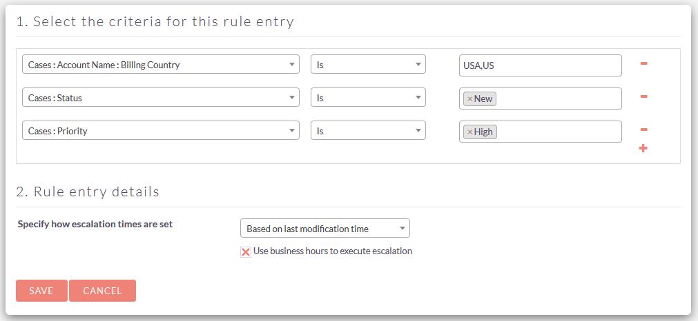SuiteCRM Case Escalation view rules