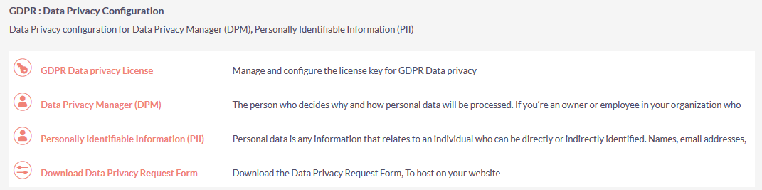 GDPR Data Privacy Configuration for SuiteCRM