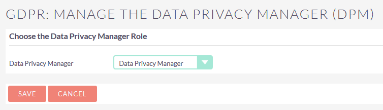 Configure Data privacy Manager