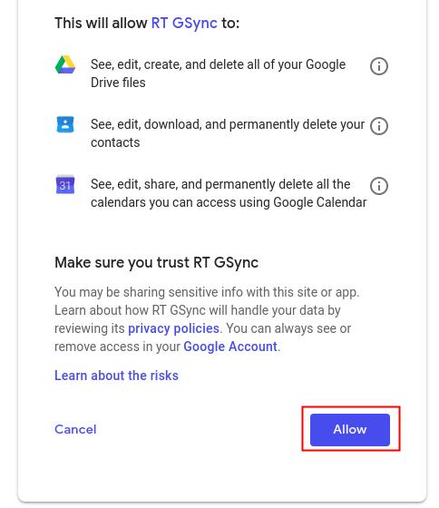 User Guide | RT GSync: Google Apps Integration