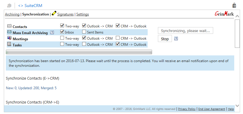 Synchronizing Outlook and SuiteCRM Contacts