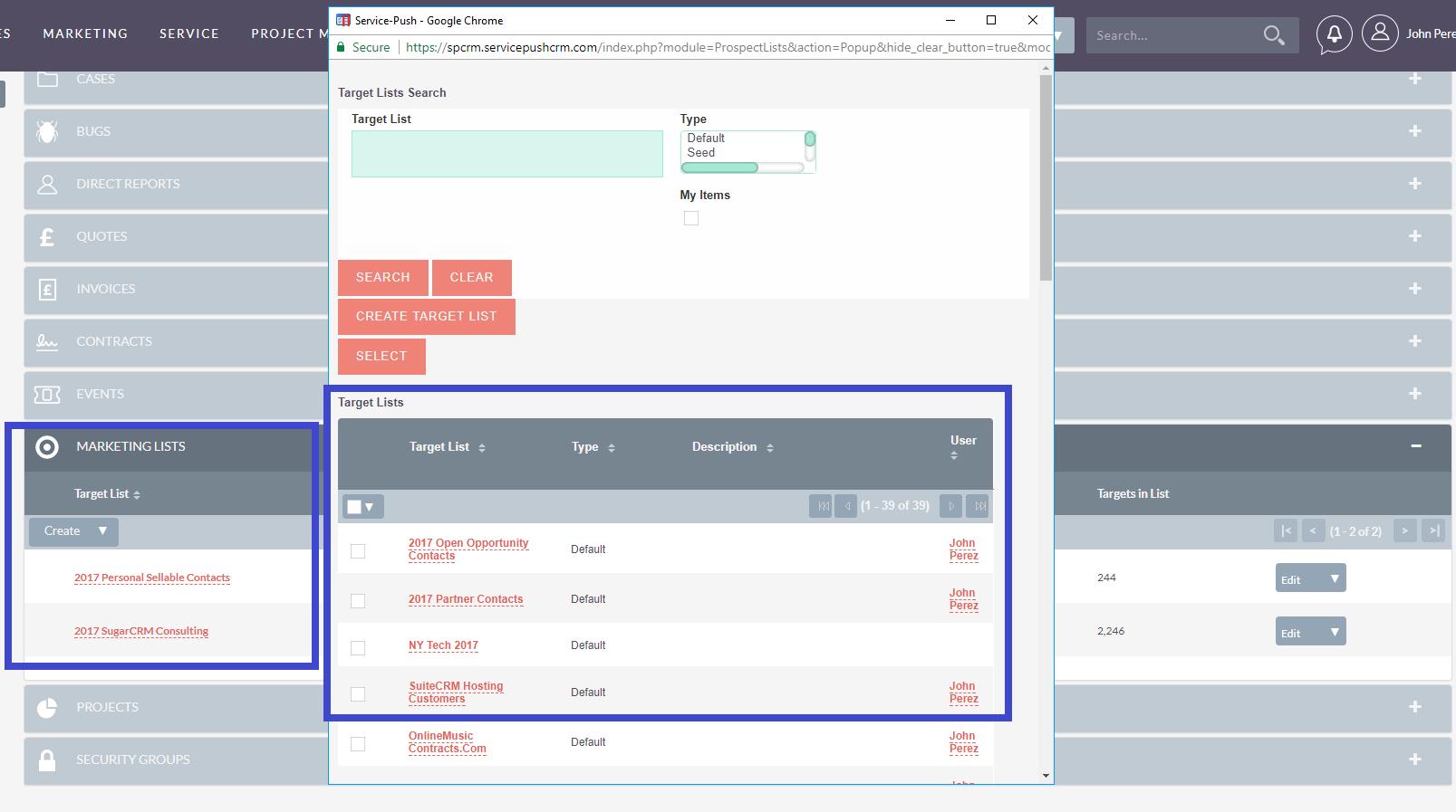 Marketing List Ninja | SuiteCRM Module