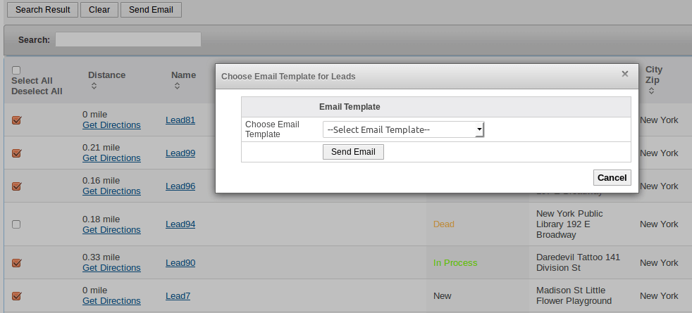 Proximity Search Email