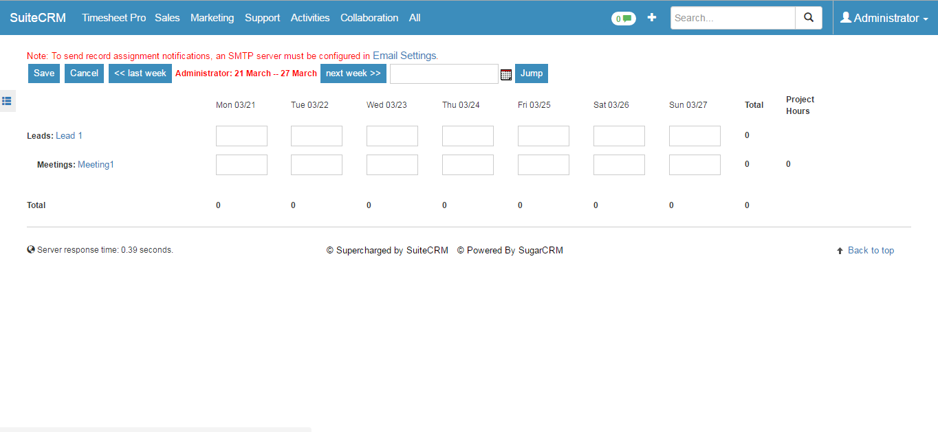 timesheet ninja for suitecrm suitecrm module
