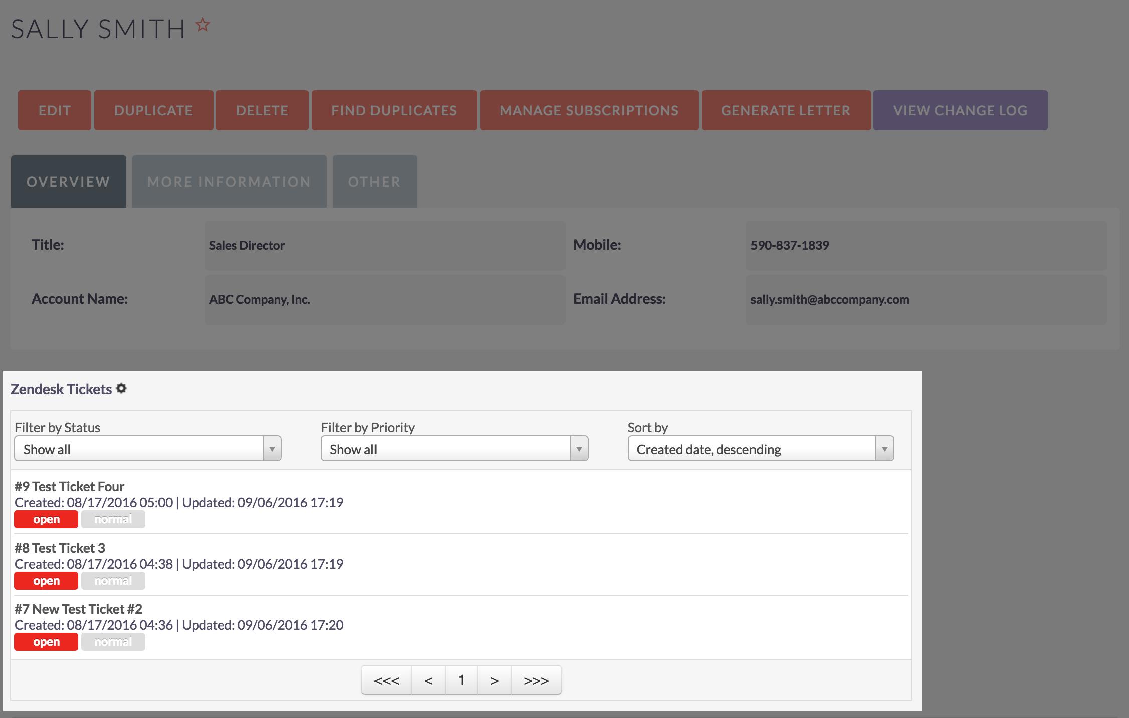 View Zendesk Data Inside SuiteCRM