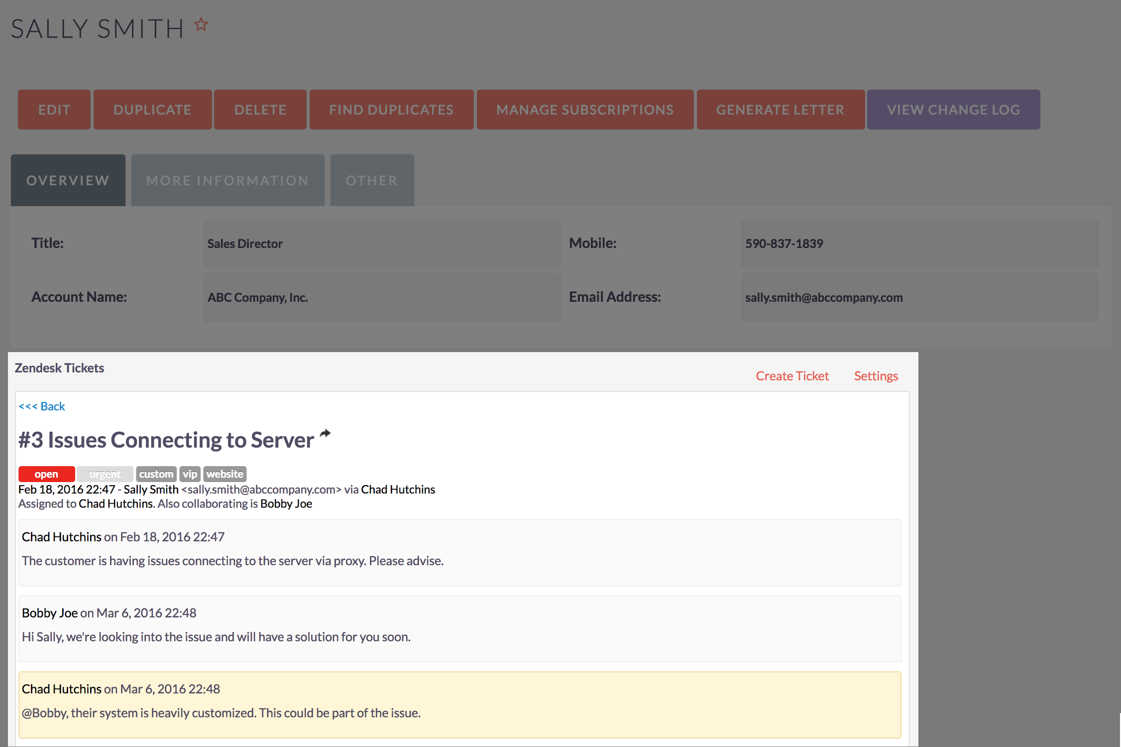 View Zendesk Tickets Inside SuiteCRM