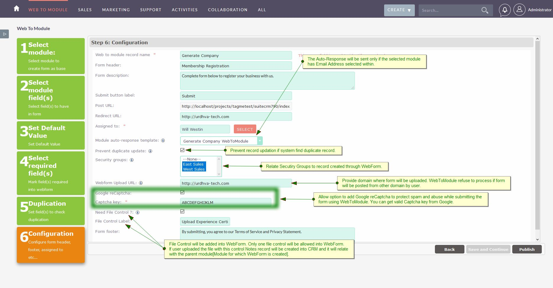 User Guide | WebToModule