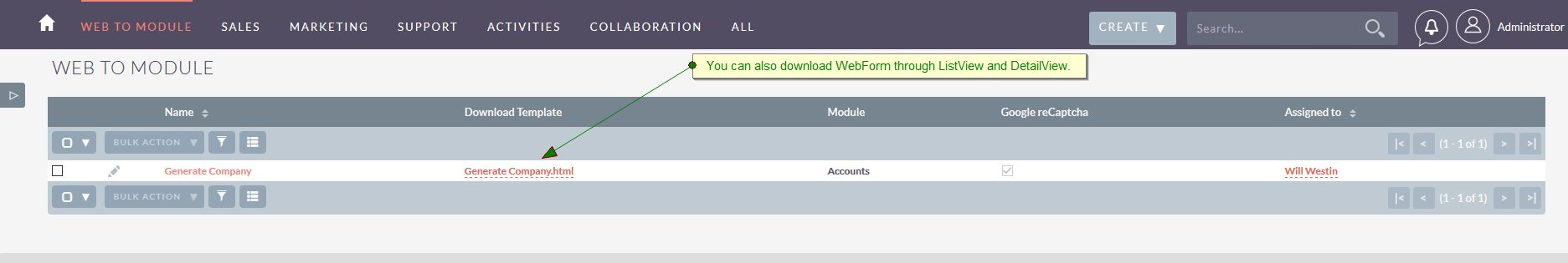 Download webform