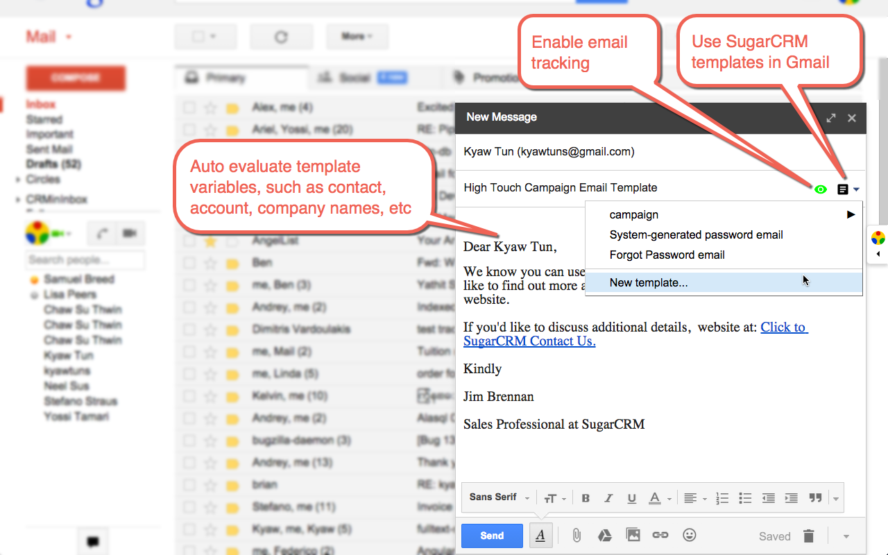 Yathit cimiminbox sugarcrm in gmail