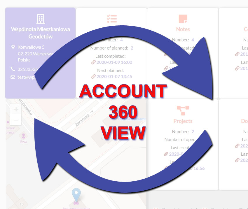 Account 360-degree View Logo