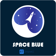 Space Blue Theme Logo