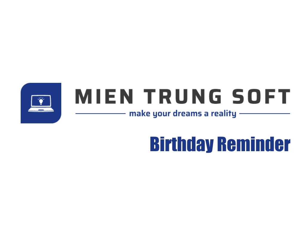MTS Birthday Reminder Logo