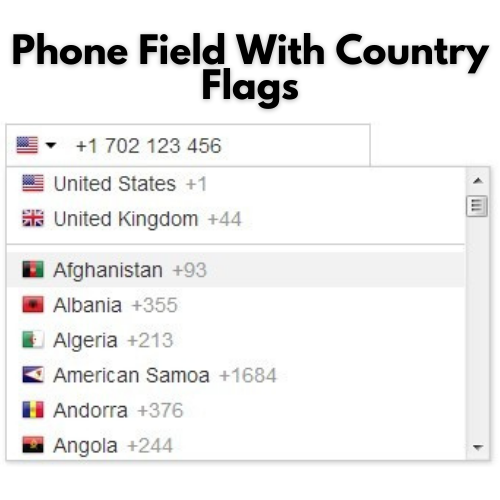 Phone Field With Country Flags Logo