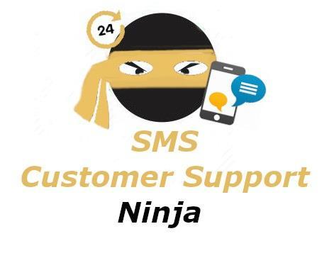 SMS Customer Support Ninja Logo
