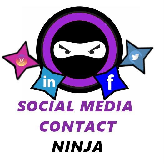 Social Media Contact Ninja Logo
