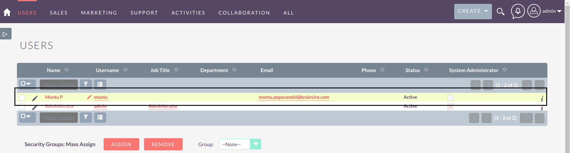 Sudo Login for SuiteCRM choose user to login as