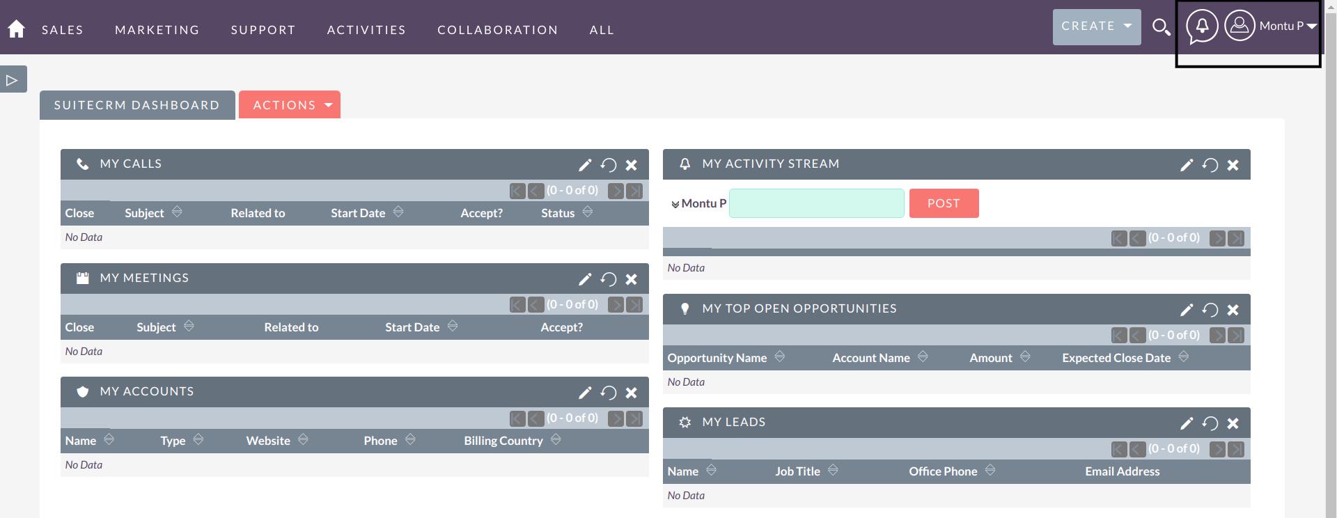 Sudo Login for SuiteCRM enter workspace of user
