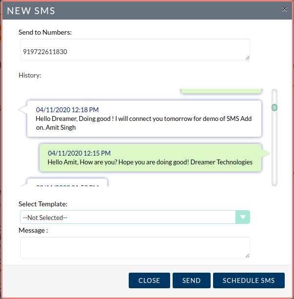 SMS Integration with SuiteCRM