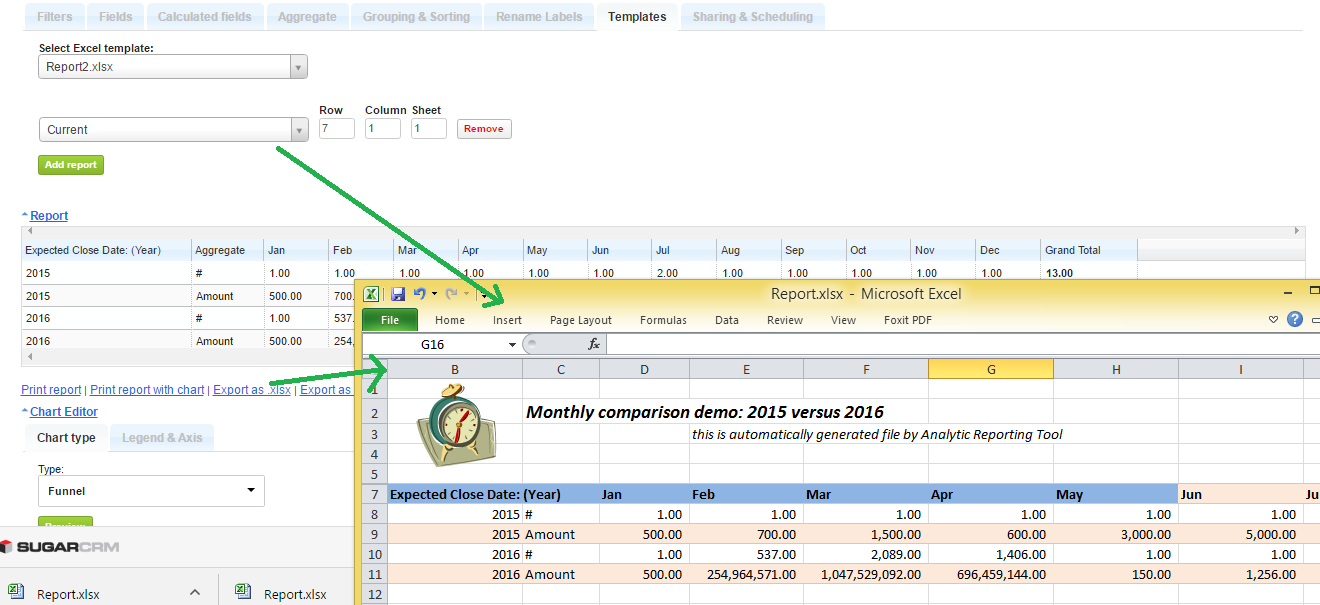 Analytic Reporting Pro Upgrade For Suitecrm