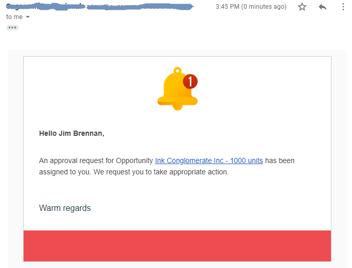 SuiteCRM approval process email notification