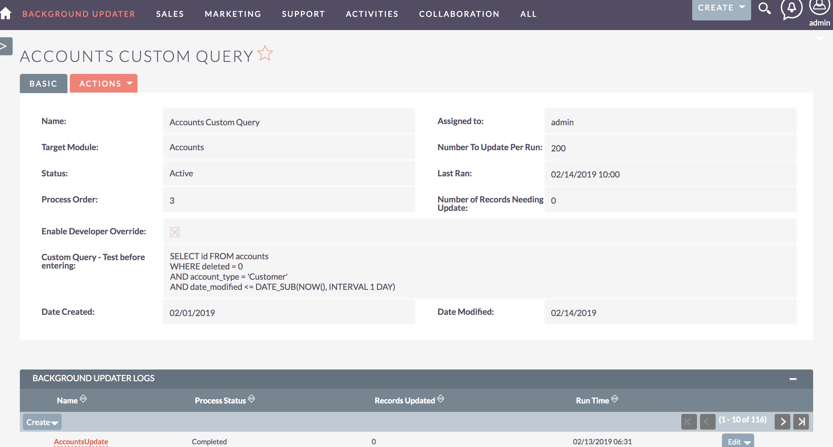 Background Updater for SuiteCRM Detail View