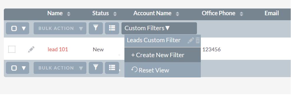 Custom Filter SuiteCRM Add-on Module Listview