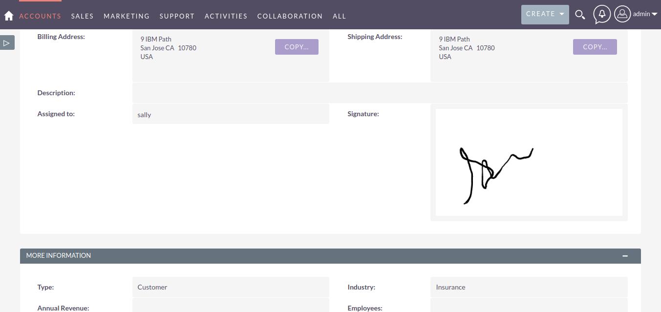 E-Signature Field for SuiteCRM detail page