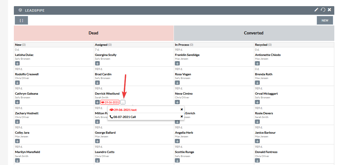 Mokas LeadsPipe for SuiteCRM activity view