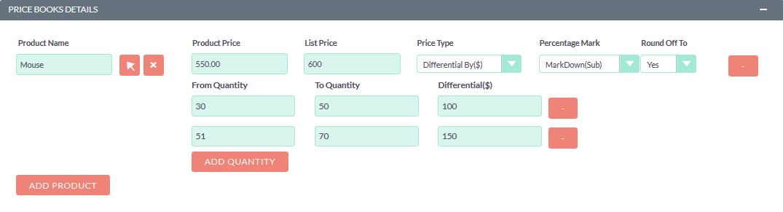 Price Books for SuiteCRM differential per dollar