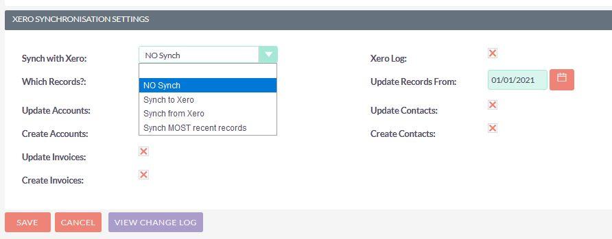 Suite to Xero integration configuration
