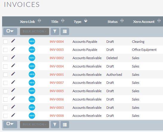 Suite to Xero integration invoices