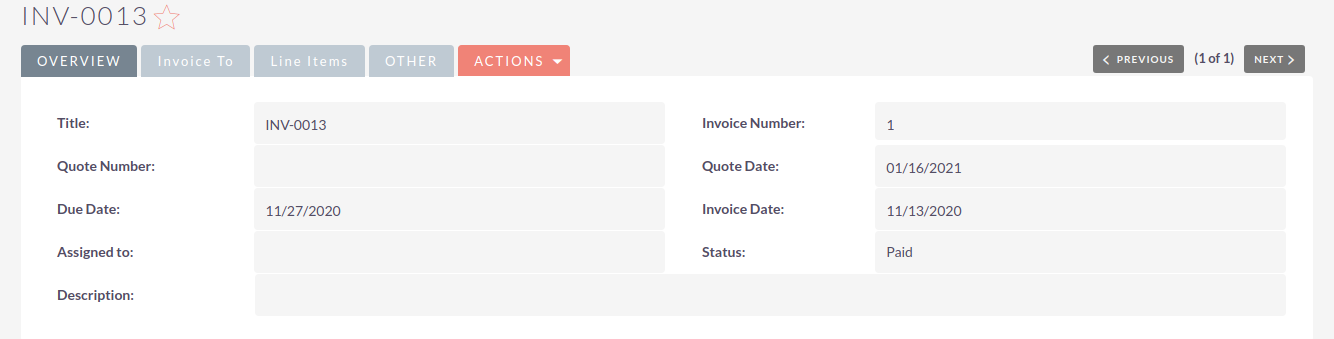 SuiteCRM Xero Integration invoice